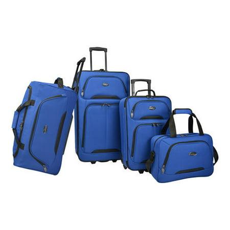Global Traveler Luggage - Vineyard 4-Piece Soft-Side Luggage Set