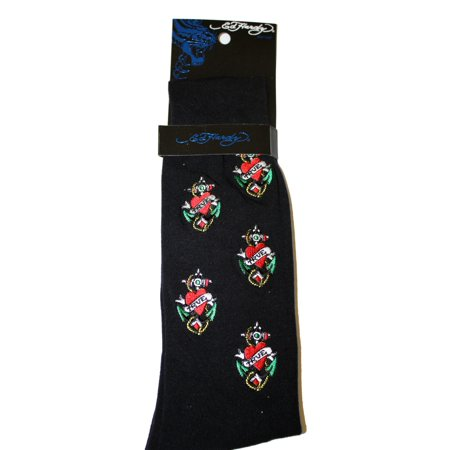 Ed Hardy Embroidered All Over Men's Crew Socks
