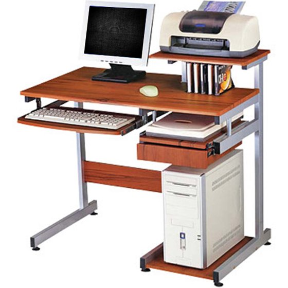 Deluxe Ergonomic Home-Office Computer Desk