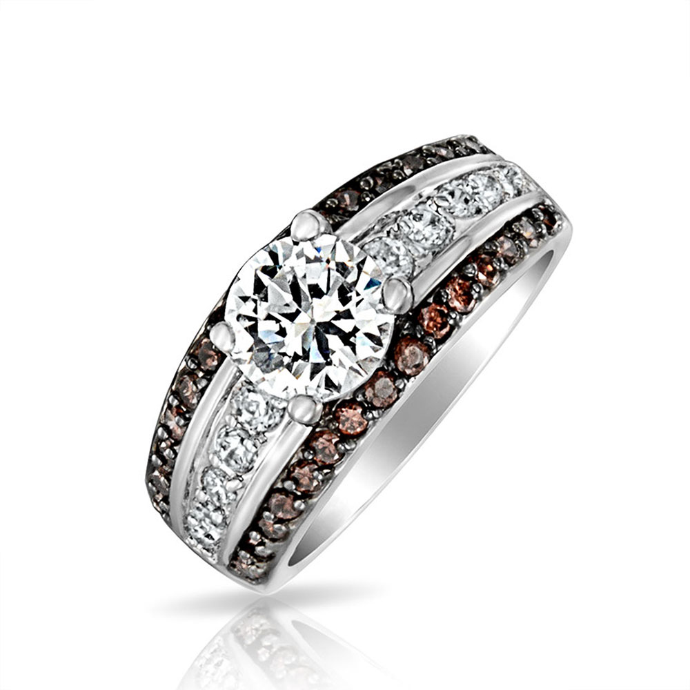 bling jewelry cz pave coffee and engagement ring