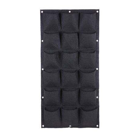 Green Wall 18 Pockets Planting Bag Pocket Vertical Wall Planter Garden Balcony Plant Grow Bag Gardening