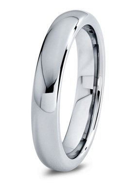 Product Image Charming Jewelers Tungsten Wedding Band Ring 4mm For Men Women Comfort Fit Domed Round Polished Lifetime