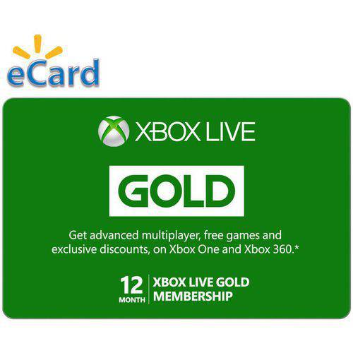 Microsoft Xbox Live 12 Month Gold Membership (Email Delivery)