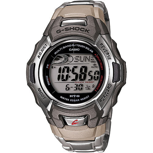 Casio Men's Atomic-Solar G-Shock Watch, Stainless-Steel Bracelet by Casio