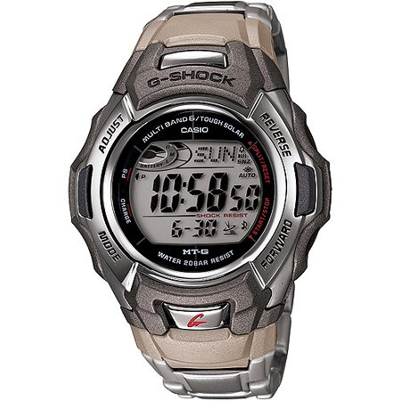 Solar Wave Watch (Casio Men's G-Shock Stainless Steel Tough Solar Atomic Digital Watch MTGM900DA-8)