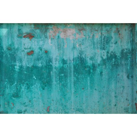 LAMINATED POSTER Metal Weathered Turquoise Rusted Corrosion Sheet Poster Print 11 x 17