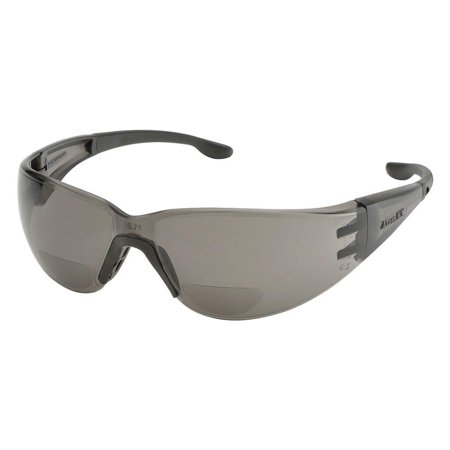Gray Bifocal Reading Glasses, Scratch-Resistant, Wraparound, Price For: Each Safety Glasses Size: Universal X-Ray Detectable: No Temple Color: Gray Standards: ANSI.., By (Ray Ban Safety Glasses)
