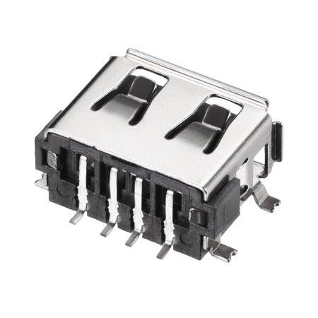 PCB USB Connecteur Type-A 4P 10mm Corps Court SMT SMD Bord Enroulé 15pcs - image 2 de 4