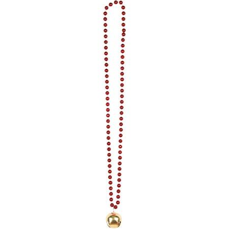 Beads with Jingle Bell Adult Christmas Accessory - Savers Halloween Jingle