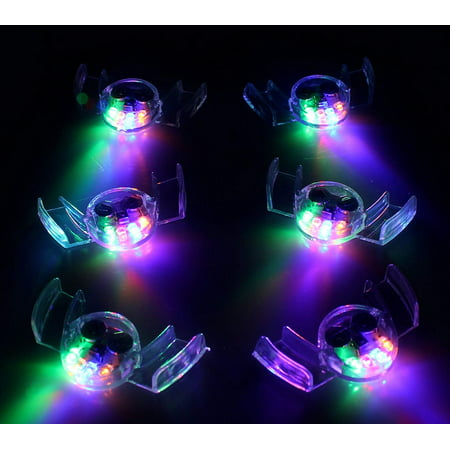 Halloween Edm Parties (12/pk Flashing Mouth LED Mouthpieces Glow Teeth Light Party Halloween)
