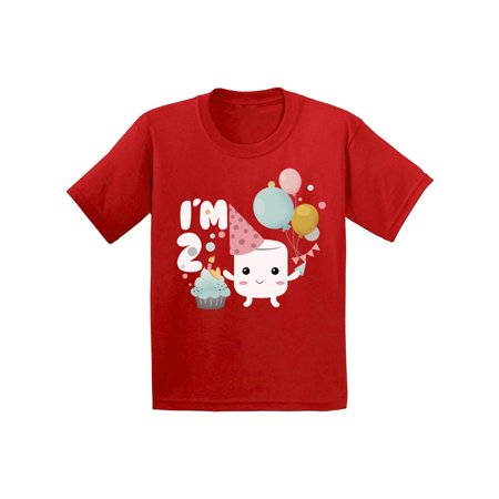 Awkward Styles Infant Shirt for Kids 2nd Birthday Girl T Shirt Marshmallow Shirts for Girls 2nd Birthday Themed Party Shirt Second Birthday Party Sweet Tshirts for Girls Gift for 2 Year Old](Girl 2nd Birthday Party Themes)