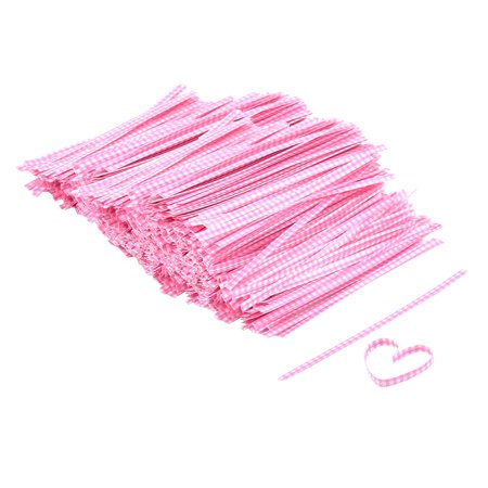 Plaid Design Candy Wrapper Twist Tie String Adornment Pink 102mm Length 2000 (Twist Wrap)