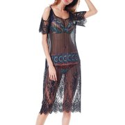 Bikini Cover up for Women Summer Beach Party Holiday Casual Sun-protective Bikini Swimsuit Cover up Lace Crochet Beach Dress Smock