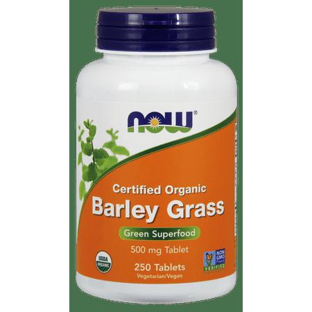 NOW Organic Barley Grass Green Superfood, 500 mg, 250 Ct Benefits Of Barley Grass Powder