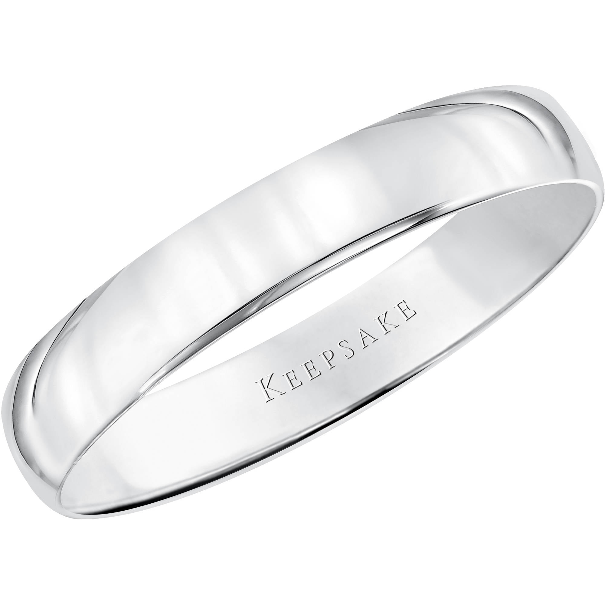 Keepsake 10kt White Gold Wedding Band 4mm Walmart