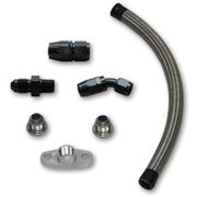 Vibrant Performance 10282 VIB10282 UNIVERSAL OIL DRAIN KIT FOR T3/T4 TOP MOUNT TURBO SETUPS (20IN LONG LINE)