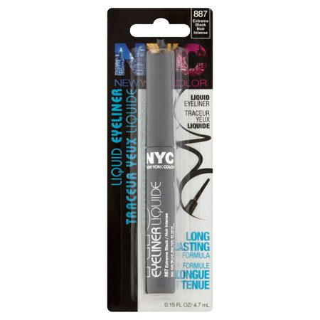 NYC New York Color Liquid Eyeliner, 887 Pearlized Black, 0.17 fl ...