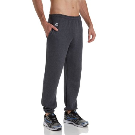 Russell Athletic Men's Dri-Power Fleece Closed-Bottom Pocket Sweatpants Short Simple Pocket Pant