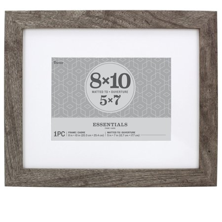 Essentials Picture Frame: Grey, 8 x 10 or 5 x 7 with Mat ()