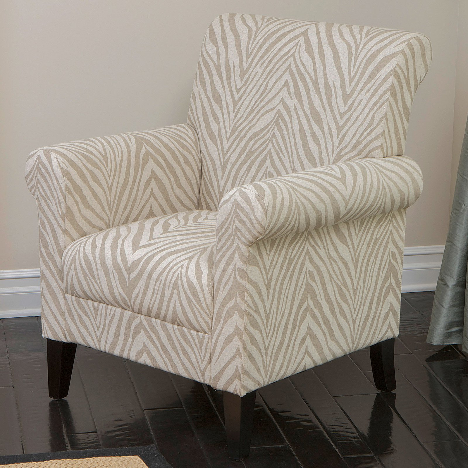 Bigalow Zebra Fabric Club Chair Beige by NFusion