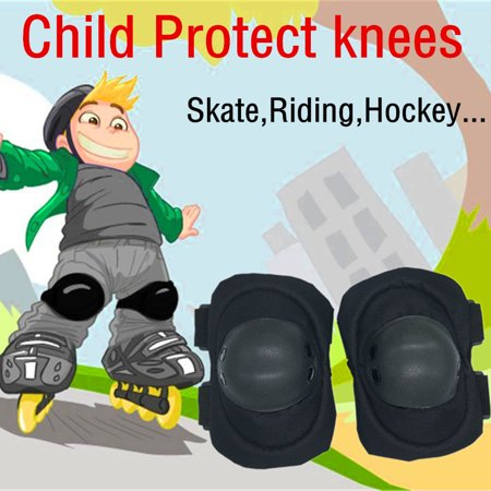 2Pcs Child Cycling Roller Ski Skate Skating Knee Elbow Safety Gear Pads Kneepad