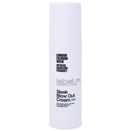 Label.M Sleek Blow Out Cream, 150 ML, Hair Smoothing Heat Protectant Cream: You always want protection for your hair if you blow dry or use a flat iron or curling.., By