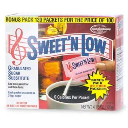 Sweet 'N Low Granulated Sugar Substitute 120 ea (Pack of 2)