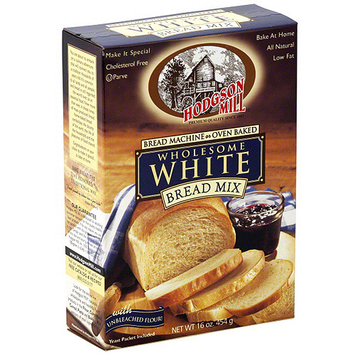 Hodgson Mill Wholesome White Bread Mix, 16 oz (Pack of 6) by Hodgson Mill