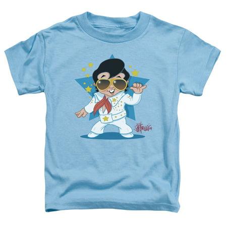 Trevco ELVIS PRESLEY JUMPSUIT Carolina Blue Toddler Unisex T-Shirt - Pro Elvis Jumpsuit