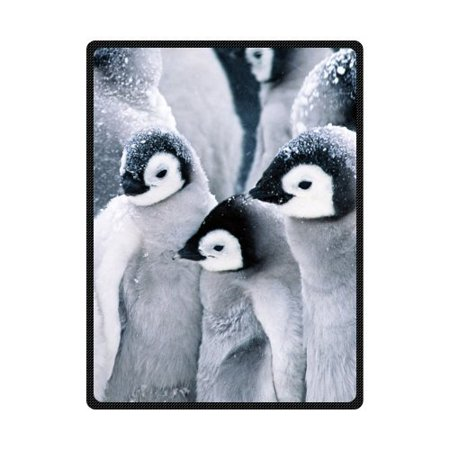 CADecor A Group Of Penguins On Snow Fleece Blanket Throws 58x80 inches](Snow Blankets)