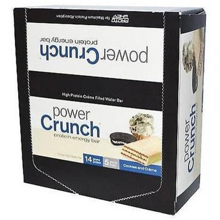Power Crunch Protein Energy Bar, Cookies and Crème, 14g Protein, 12 Ct