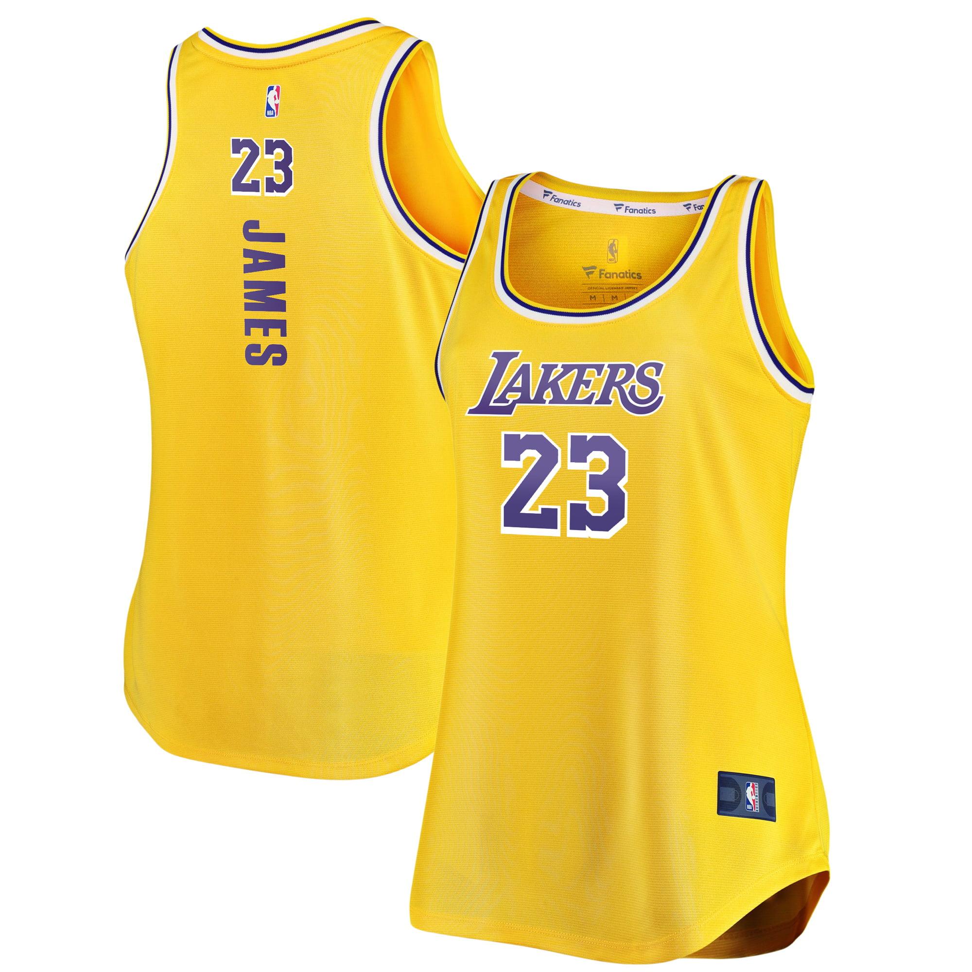 premium selection 39639 344ff LeBron James Los Angeles Lakers Fanatics Branded Women's Fast Break Tank  Jersey - Gold