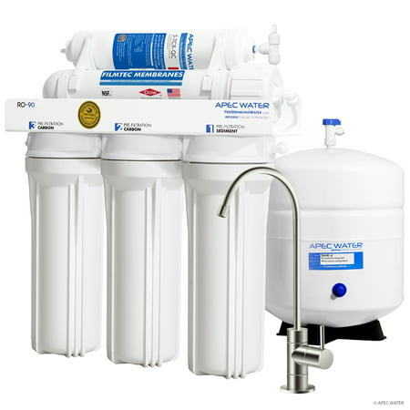 Reverse Osmosis Water Health (APEC Top Tier Supreme Certified High Output 90 GPD Ultra Safe Reverse Osmosis Drinking Water Filter System (ULTIMATE RO-90B) )