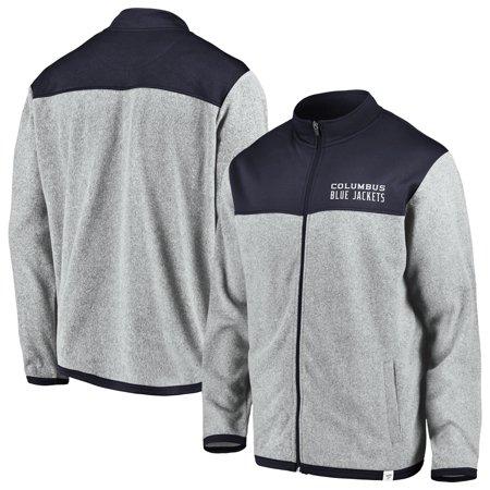 7c4769e6c59 Columbus Blue Jackets Fanatics Branded Polar Full-Zip Jacket - Gray Navy -  Walmart.com