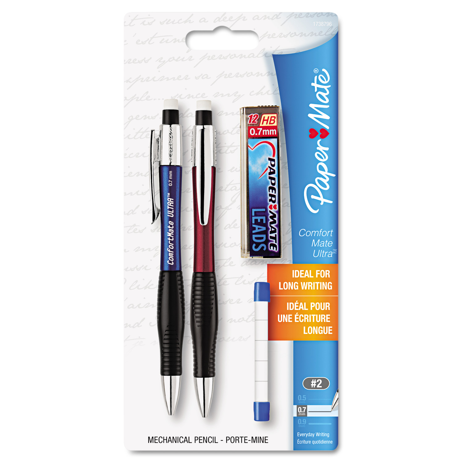 Paper Mate Comfortmate Ultra Pencil Starter Set, Ast Brl; 0.7 mm, Ref -PAP1738796