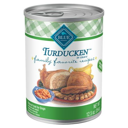 Blue Buffalo Family Favorite Grain-Free Turducken Recipe Wet Dog Food, 12.5-oz cans, Case of (Cap Dog)