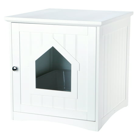 TRIXIE Pet Products Standard Wooden Litter Box Enclosure White ()
