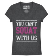 Mean Girls Juniors' Squat With Us V-Neck T-Shirt