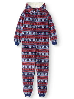 Matching Family Pajamas Unisex Kids Fair Isle Footless Union Suit