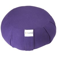 Sol Living Organic Cotton Yoga Bolster Cylindrical Yoga Cushion for Full Back Support and Core Stability Durable Eco-Friendly Yoga Accessory Grey