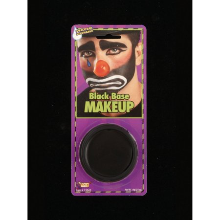 Halloween Black Base Makeup - Black Light Halloween Makeup
