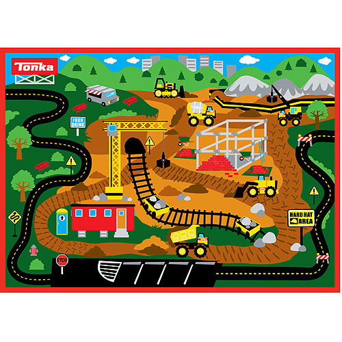 Hasbro Tonka Gravel Pit Game Nylon Rug, Multi-Color