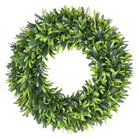 Coolmade Artificial Lavender Wreath, 16