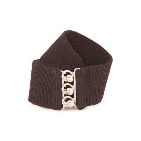 Cotton Elastic Waist Belt - Malco Modes Wide Elastic Cinch Waist Belt Stretch Belt for Women, Plus Sizes Medium Black