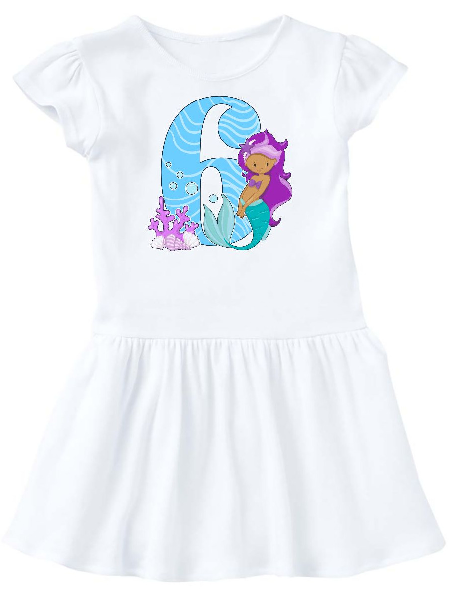 Sixth Birthday Mermaid Toddler Dress