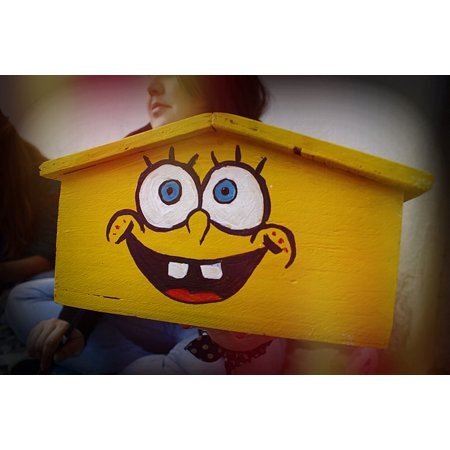 LAMINATED POSTER Ceiling House Sponge Bob Drawing Casita Caricature Poster Print 24 x - Spongebob 24