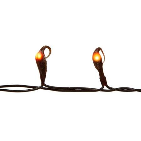 Teeny Bulbs Silicone Tip Light Set - 20 Brown Bulbs - Brown Cord - 6 ft (Halloween Energy Tips)