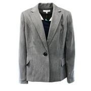 Kasper NEW Gray Women's Size 16 Single-Button Textured 2-Pocket Blazer $99