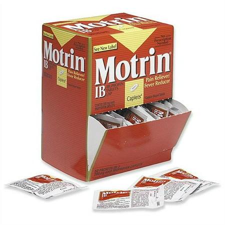 McNeil Nutritionals Motrin Ib Analgésique - Maux de tête, douleurs musculaires, l'arthrite, maux de dents, mal de dos, Rhume, fièvre, menstruelles Cramp - 50 / Box (48152)