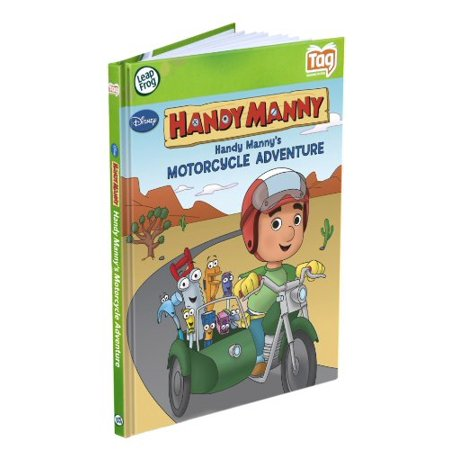 leapfrog tag activity storybook handy manny's motorcycle